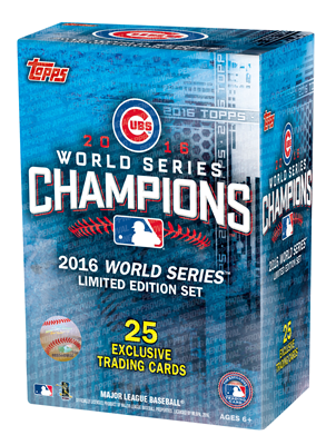 16 TOPPS CUBS WORLD SERIES SET