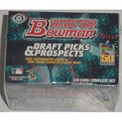 01 Bowman Draft Picks Fac. Set