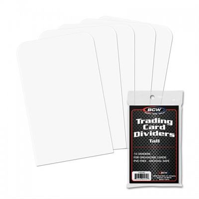 Card Dividers Plastic TALL