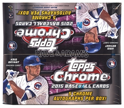 15 TOPPS CHROME BB JUMBO BOX