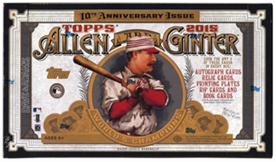 15 TOPPS ALLEN & GINTER BB BOX