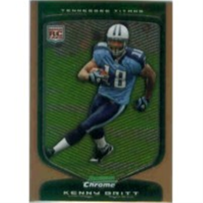 2009 B Chrome Kenny Britt RB