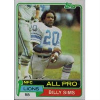 1981 Topps Billy Sims RC