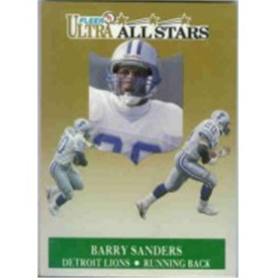 1991 Ultra Barry Sanders AS