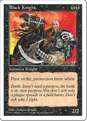 MTG BLACK KNIGHT