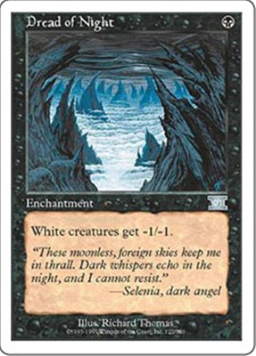 MTG DREAD OF NIGHT