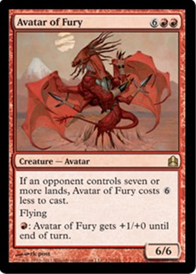 MTG AVATAR OF FURY