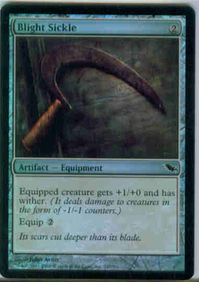 MTG BLIGHT SICKLE (FOIL)