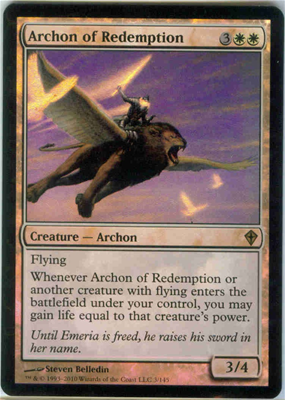 MTG ARCHON OF REDEMPTION FOIL